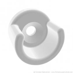 Support de rouleau d'alèse pour table à langer - Vue du support en plastique