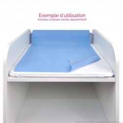 Support de rouleau d'alèse pour table à langer (exemple d'utilisation)