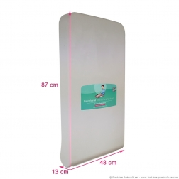 Table a langer professionnelle murale Kalinoo ERP verticale - Dimensions fermée