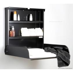 Table à langer Fifi noire ouverte